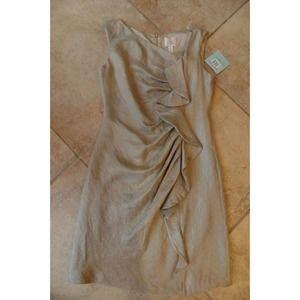 SUZI CHIN MAGGY BOUTIQUE Metallic Cocktail Dress 8